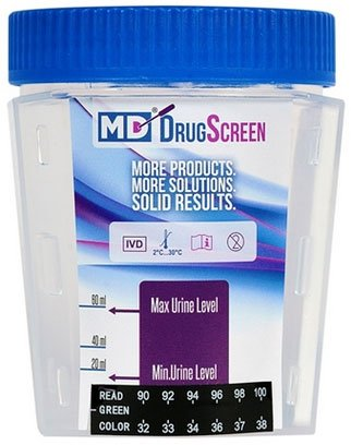 7 Panel MD Urine Drug Test Cup (CLIA-Waived) Box of 25! by Medical Disposables