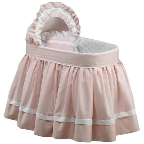 Image of Baby Doll Bedding Darling Pique Bassinet Bedding, Pink Baby