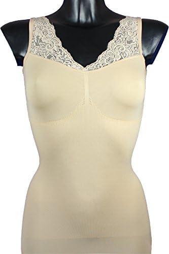 r-dessous 1 bis 3 St/ück Damen figurformend Hemdchen mit Spitze Mieder Unterw/äsche