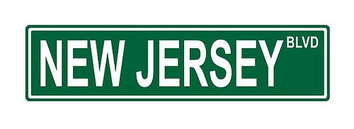Slap-Art New Jersey Blvd. Street Sign 24x6 funny joke humor novelty metal aluminum sign