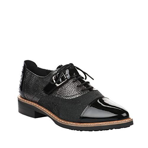 Verni à Chaussures Lacets Regard Femme Noir Noir SA0xq8n