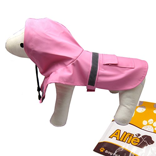 (Alfie Pet by Petoga Couture - Pluvia Rainy Days Waterproof Raincoat (for Dogs and Cats) - Color: Pink, Size:)