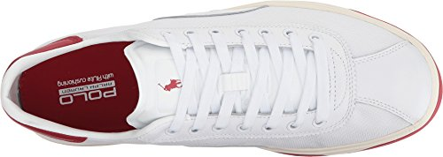 Polo Ralph Lauren Heren Court 100 Wit / Ralph Lauren 2000 Rood