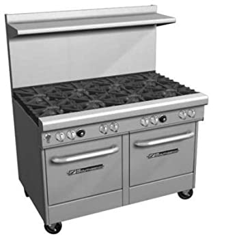 "Southbend 4481AC-5R 48"" Ultimate Restaurant Gas Range w/ 5 Non-Clog Burners, 2 Pyromax Burners Back Right, (1) Convection Oven & (1) Cabinet Base"