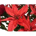 RED-Christmas-Poinsettia-Bush-24-Artificial-Silk-Flowers-24-Bouquet-030RD