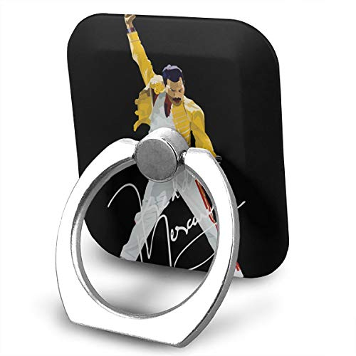 (EdithL Freddie Mercury Cellstand Cell Phone Finger Ring Stand, Car Mount 360 Degree Rotation Universal Phone Ring Holder Kickstand for iPhone/iPad/Samsung)