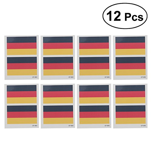Cheap 12 Pcs Country Flag Tattoo Stickers Fashion Sports Body Art Tattoo Decals for 2018 World Cup (Germany) for cheap