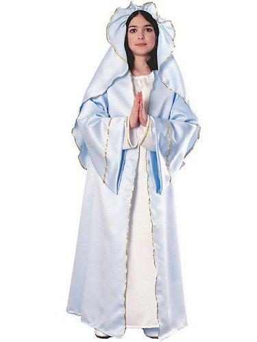 [Biblical Virgin Mary Deluxe Kids Costume] (Girls Virgin Mary Costume)