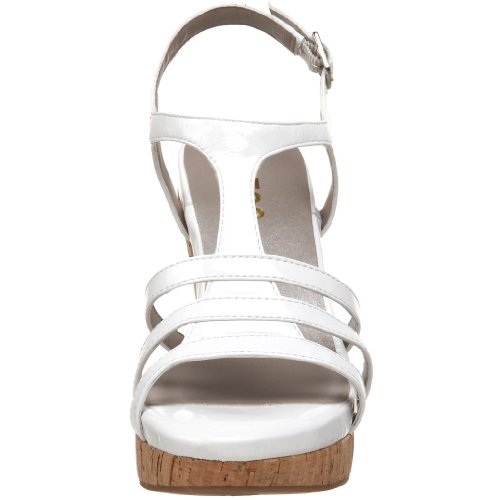 Me Patent T Strap Women's White Sandal Jones Too 4FwZ4p