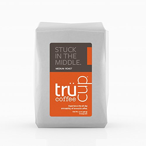 trücup Low Acid Coffee, Drip Grind, Stuck in the Middle Medium Roast, 2 Pound