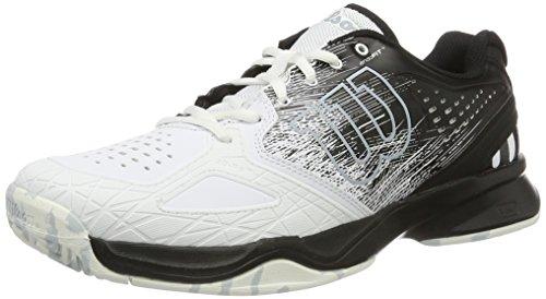 WILSON Kaos Comp Bk/Wh/Pearl Blue 8, shoes homme - Multicolore (Black/White/Pearl Blue), 42 EU