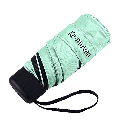 Compact Mini Umbrella Small Ultra Light Sun Protection UV Resistance Umbrella for Travel (Green)