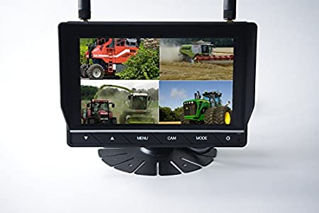 System mit 2 Kameras Technikshop24 Funk R/ückfahrkamera Set R/ückfahrsystem f/ür LKW Wohnmobil und Fahrzeuge mit Anh/änger