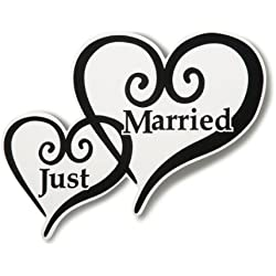 Just Married Heart Car Magnet