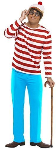 Fancy Me Men's Family Where Wally Waldo Wenda Book Day Couple Halloween Large Mens - Where's Wally Wenda Costume Large