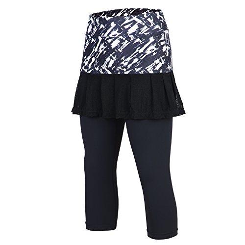 ANIVIVO Skirted Tennis Legging for Ladies, Skirted Capri Leggings Tennis Pants for Ladies& Swimming Capri Skirted Leggings… – DiZiSports Store