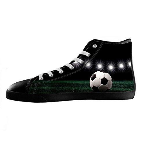 Chaussure De Toile De Football Des Sports Faits Sur Commande De Coutume Des Hommes Haut Lacets Sur Des Espadrilles De Toile De Chaussures.
