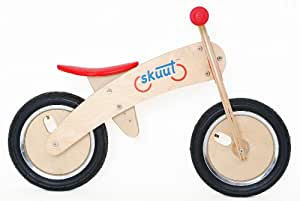 Diggin Active Skuut Wooden Balance Bike (Red)