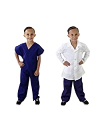 Natural Uniforms Childrens Scrub Set and Labcoat Combo-Soft Touch