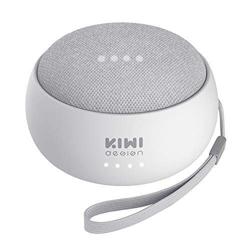 KIWI design Rechargeable Battery Base for Home Mini by Google, 7800mAh Portable Charger Accessories for Home Mini by Google (Light Stone Gray) Google Home Mini Not Included