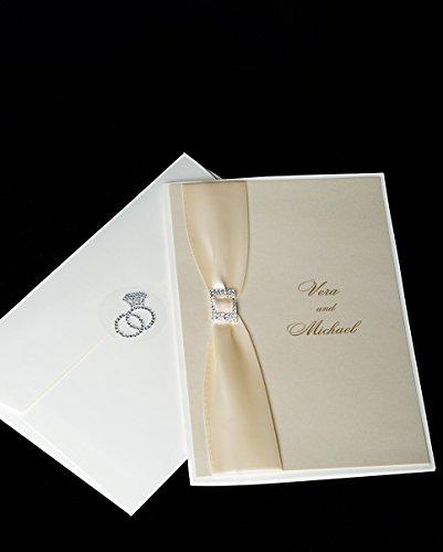Unik Occasions Crystal Rhinestone Double Ring Envelope Seal - Double Invitation Envelopes