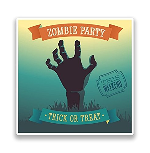 Zombie Hand Halloween Vinyl Stickers Decoration - Sticker Graphic - Sticks to Any Smooth Surface - Cars, Walls, Cellphones, Laptops, Windows -