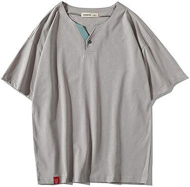 Top casual de verano para hombre Camiseta para hombre Camiseta de manga corta lisa Casual Tops Joven estudiante flojo Camisas básicas Hip Pop Gimnasio Entrenamiento Deporte Blusa superior para regalo: Amazon.es: Hogar