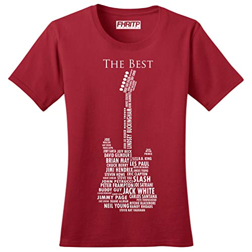 Guitar Legends 1959 American Standard Ladies Tshirt RED 3XL