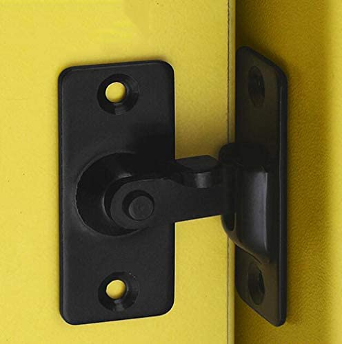Negro YUM Cerradura de puerta abatible de 90 grados Perno Puerta de granero Cerradura de /ángulo recto Puerta de arco Cerradura de puerta dedicada