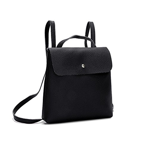 Banquet Bag Fshion Mini Pure Color Shoulder Bag Ravel for School Women Lock Top Leisure Leather Backpack Girl Black Red ZCrwxX7qZ