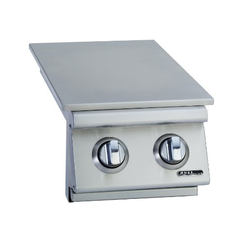 (Bull Outdoor Products 30009 Natural Gas Slide-In Double Side Burner, Front and Back Design )