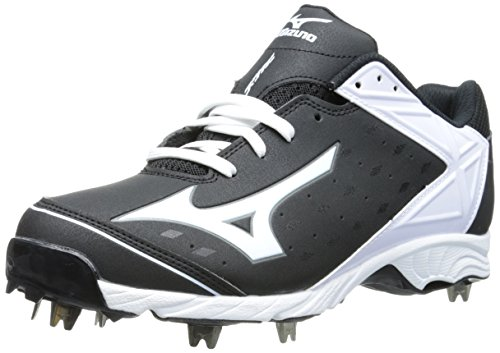 Mizuno Usa Mens Men's 9-Spike ADV Swagger Baseball Cleat,Black/White,10.5 D US