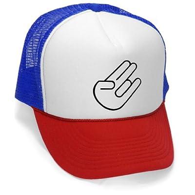 The Shocker - Funny Vulgar Joke Party frat Mesh Trucker Cap Hat, RWB