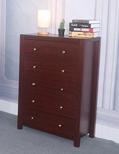 Brass Mahogany Dresser - 1