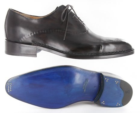 New Sutor Mantellassi Dark Brown Shoes 7.5/6.5 YhHwzX6