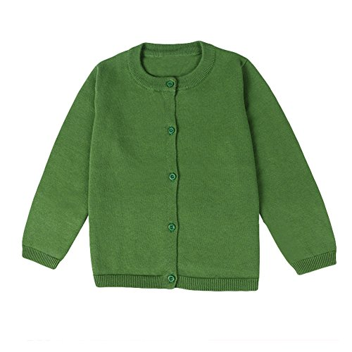 LOSORN ZPY Baby Boys Girls Button-Down Cardigan Toddler Cotton Knit Sweater Green 80