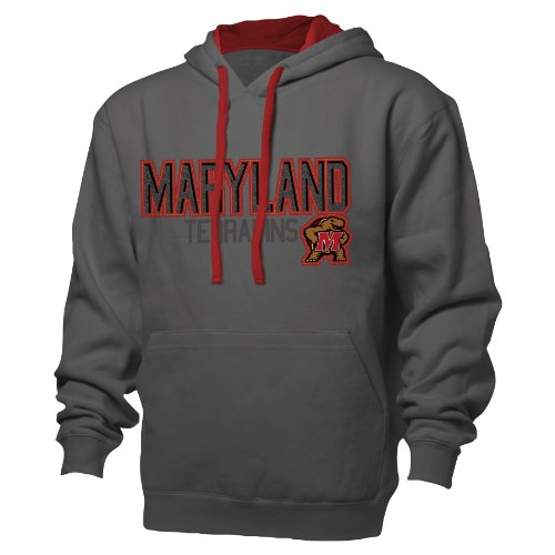 NCAA Maryland Terrapins Benchmark Colorblock Pullover Hood, Medium, Graphite/Red