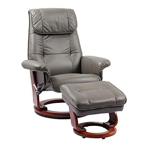 Coja by Sofa4life C-Gre Leclair Leather Recliner and Ottoman ()