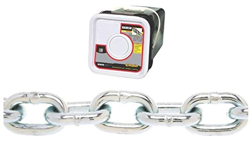 Baron PC30316SP Welded Proof Coil Chain 3/16 in x 150 ft 800 lb Steel