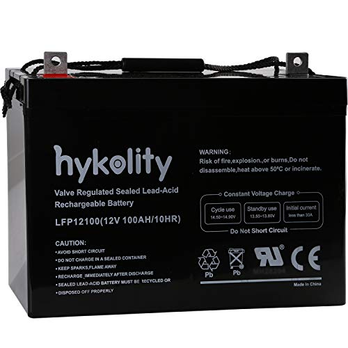 Hykolity 12V 100AH Deep Cycle AGM SLA VRLA Battery for Solar Wind RV 12V 24V 48V