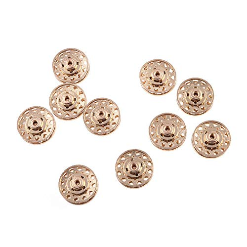Billet Badge (10pcs Metal Butterfly Round Snap Fastener Buttons Sewing for Dress Clothing Bags (Model - Spider Web))