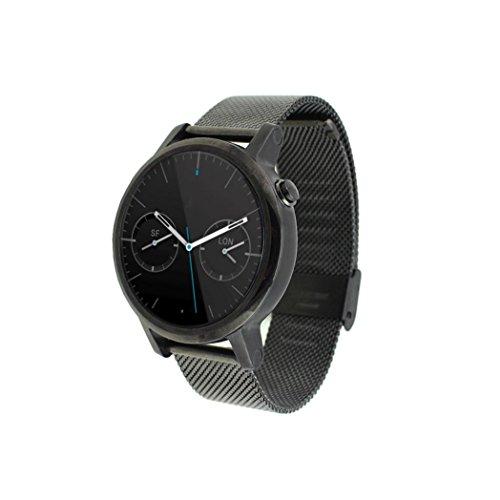 Binmer(TM)Motorola Moto 360 2nd 46mm Milanese Stainless Steel Watch Band Strap Black