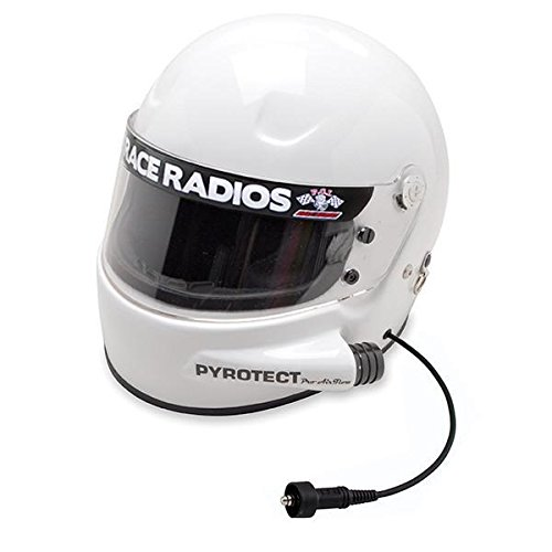 PCI Unisex-Adult Pyrotect Pro Airflow RaceAir Wired Helmet (White, Large)