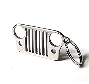 jeep grill key chain bottle opener heavy duty 304 stainless steel keychain with. Black Bedroom Furniture Sets. Home Design Ideas