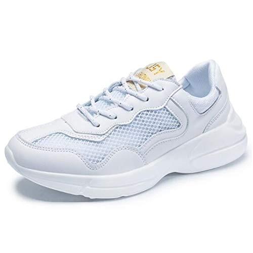 Scarpe ZHZNVX Bianco Tacco White piatto da Comfort Rosso Verde Punta Sneakers Mesh Primavera Estate chiusa donna dqF7wrgq