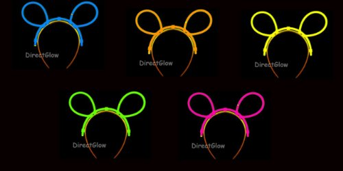 Set of 5 Assorted Glow Bunny (Glow Bunny Ears)
