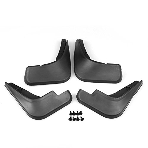 New 4Pcs Black ABS Mud Flaps Splash Guards Fender Front Rear For 09 10 11 12 13 14 15 Chevy Cruze