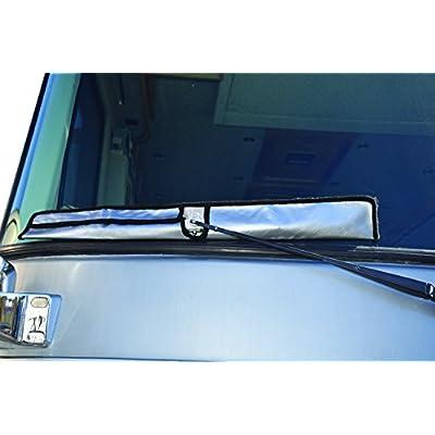 ADCO 2380 Diamond Plated Steel Vinyl RV Wiper Blade Covers, Universal, Set of 2, Silver: Automotive