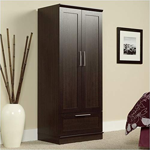 - Pemberly Row Wardrobe Armoire in Dakota Oak Finish