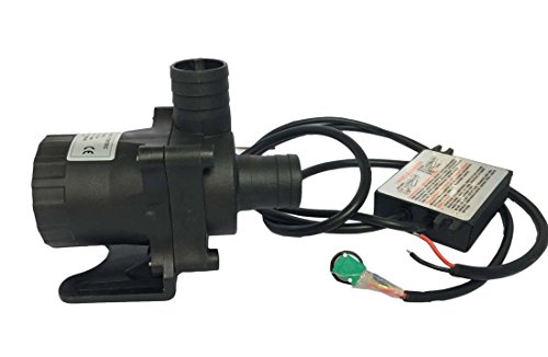 FORTRIC ZKWP10 Speed Adjustable PWM 3 Phase DC 12V 3.8A Submersible Indoor Outdoor Circulation Pump for Garden Pond Fountain Aquarium Water Cooling Max Flow Rate 3000L/H (750GLPH)
